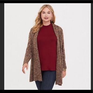 Torrid Marled Cable Knit Cardigan